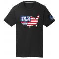 OFBA USA+Flag - Black