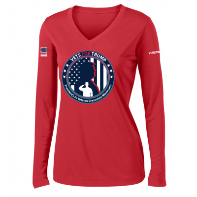 Women's LS Performance Tee - Red
