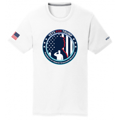 Unisex Vets for Trump Tee - White