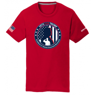 Unisex Vets for Trump Tee - Red