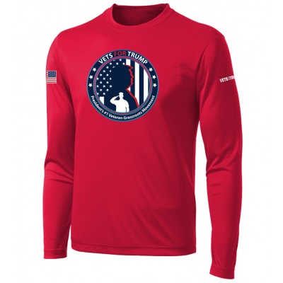 Men's LS Performance Tee - Red