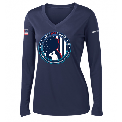 Women's LS Performance Tee - Navy