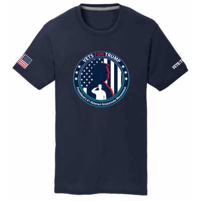 Unisex Vets for Trump Tee - Navy