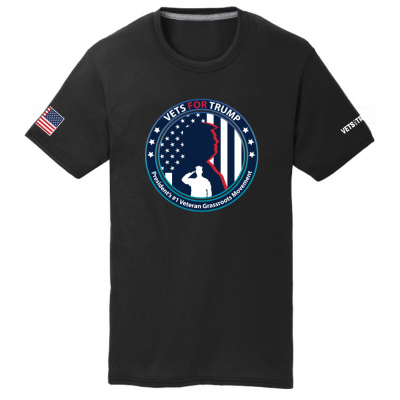 Unisex Vets for Trump Tee - Black