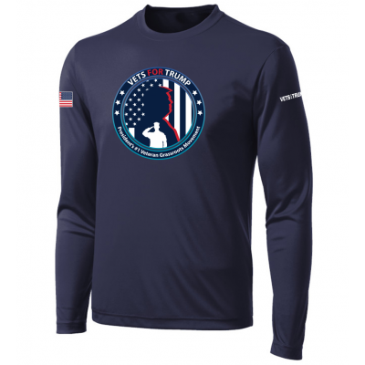 Men's LS Performance Tee - Navy
