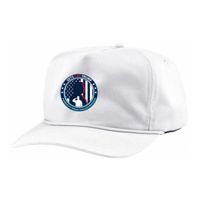 5-Panel Patriot Rope Hat - White