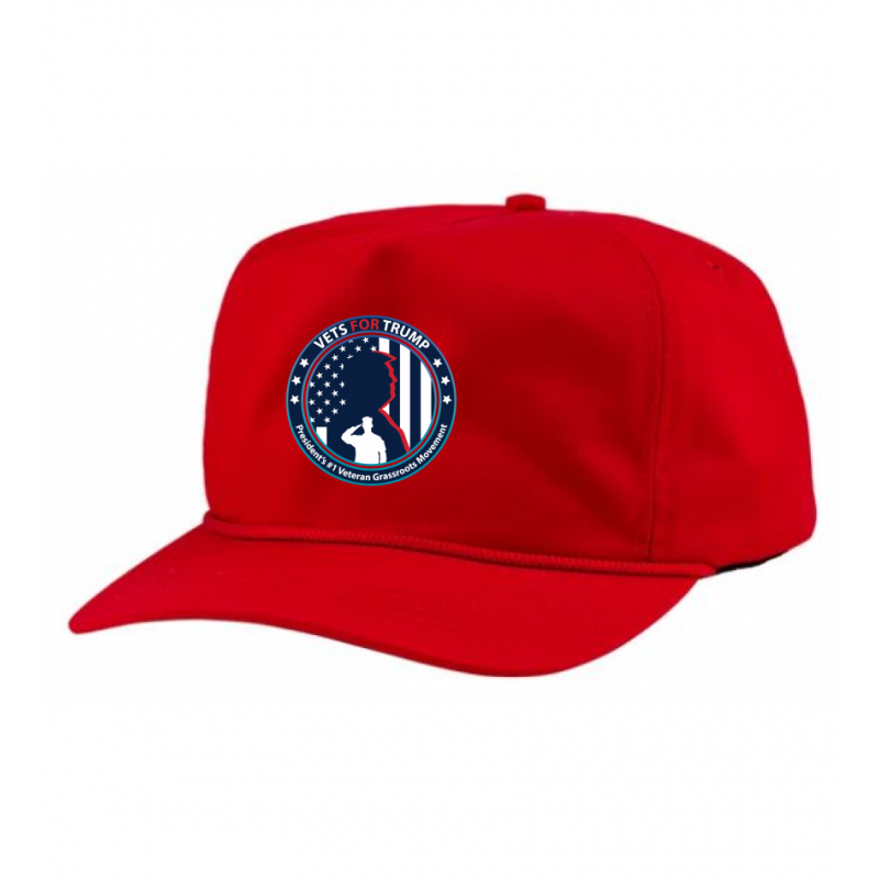 5-Panel Patriot Rope Hat - Red